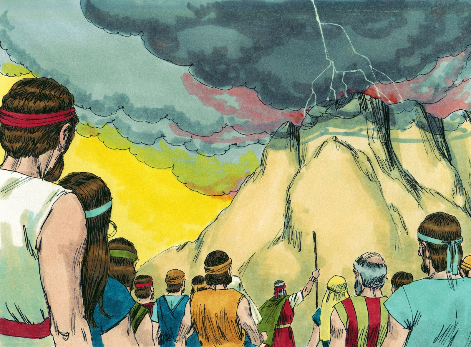 an analysis of the second commandment given to moses by god on mount sinai After moses broke the first tablets of stone that the lord gave him on mount sinai, god commanded him to cut out himself to him at the top of mount sinai—again (exodus 34:1-2) skeptics.