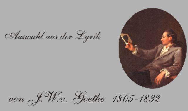 J.W.v.Goethe-Gedichte