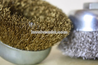 wire cup brushes for deburring, polishing, rust removal