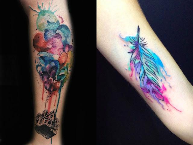 Tatuagem Com Efeito Aquarela Shirlene Souza Moda E