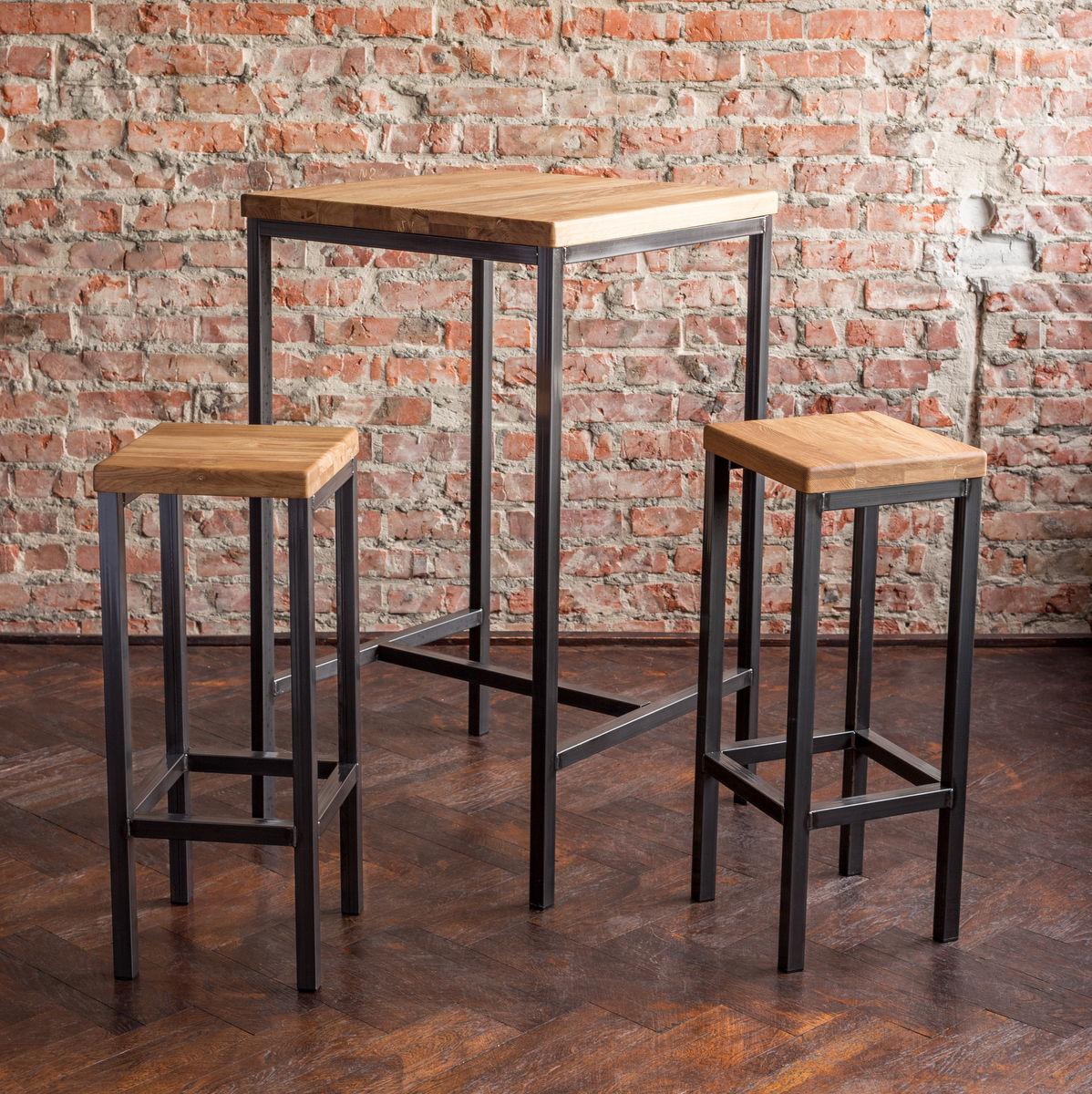 bartisch bestloft stehtisch barhocker tresen barstuhl bar tisch eiche metal ebay. Black Bedroom Furniture Sets. Home Design Ideas