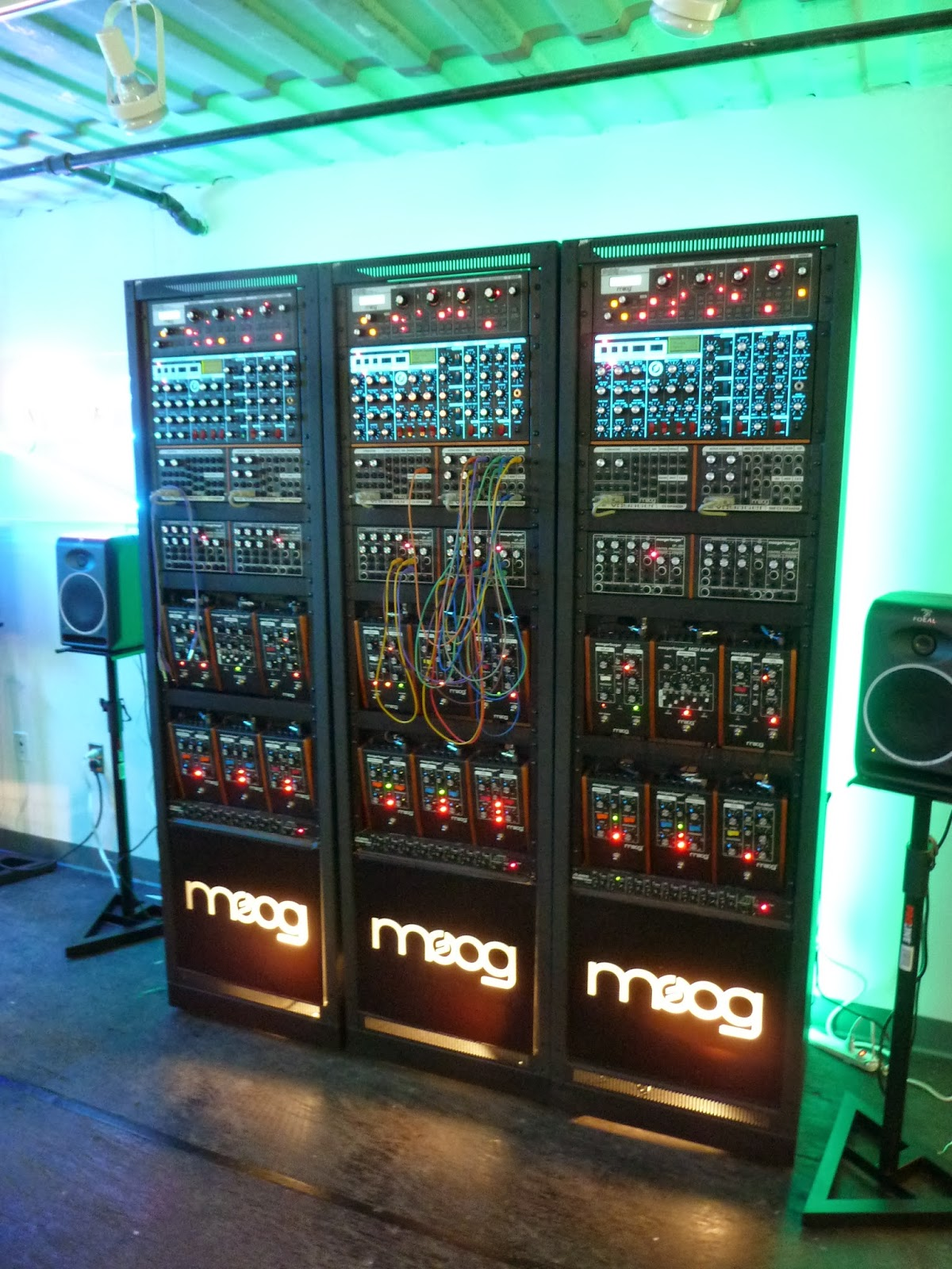 Triple Moog racks