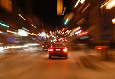 Слежка за автомобилем ночью