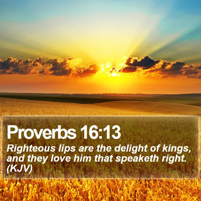 BIBLE IMAGES: PROVERBS 16:13