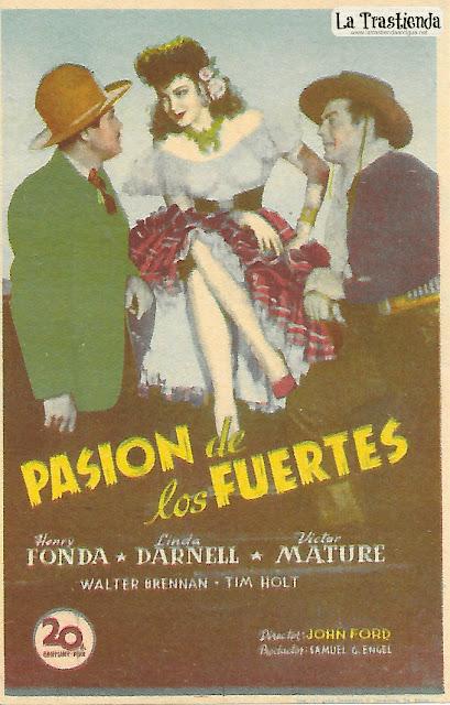 Pasión de los Fuertes - Programa de Cine - Henry Fonda - Linda Darnell - Victor Mature - Walter Brennan