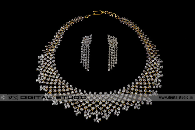 Real Diamond necklace with earrings