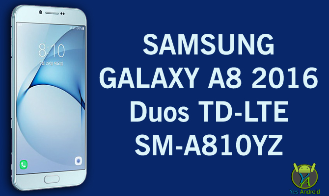 Samsung Galaxy A8 2016 Duos TD-LTE SM-A810YZ Full Specs Datasheet