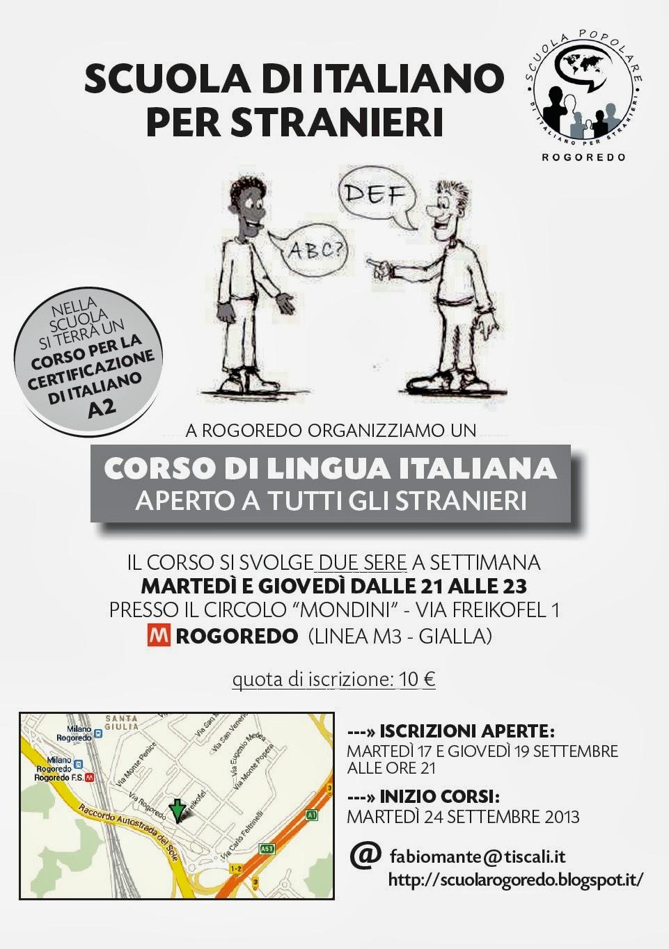 Scuola Popolare di Italiano per stranieri di Rogoredo: 2013