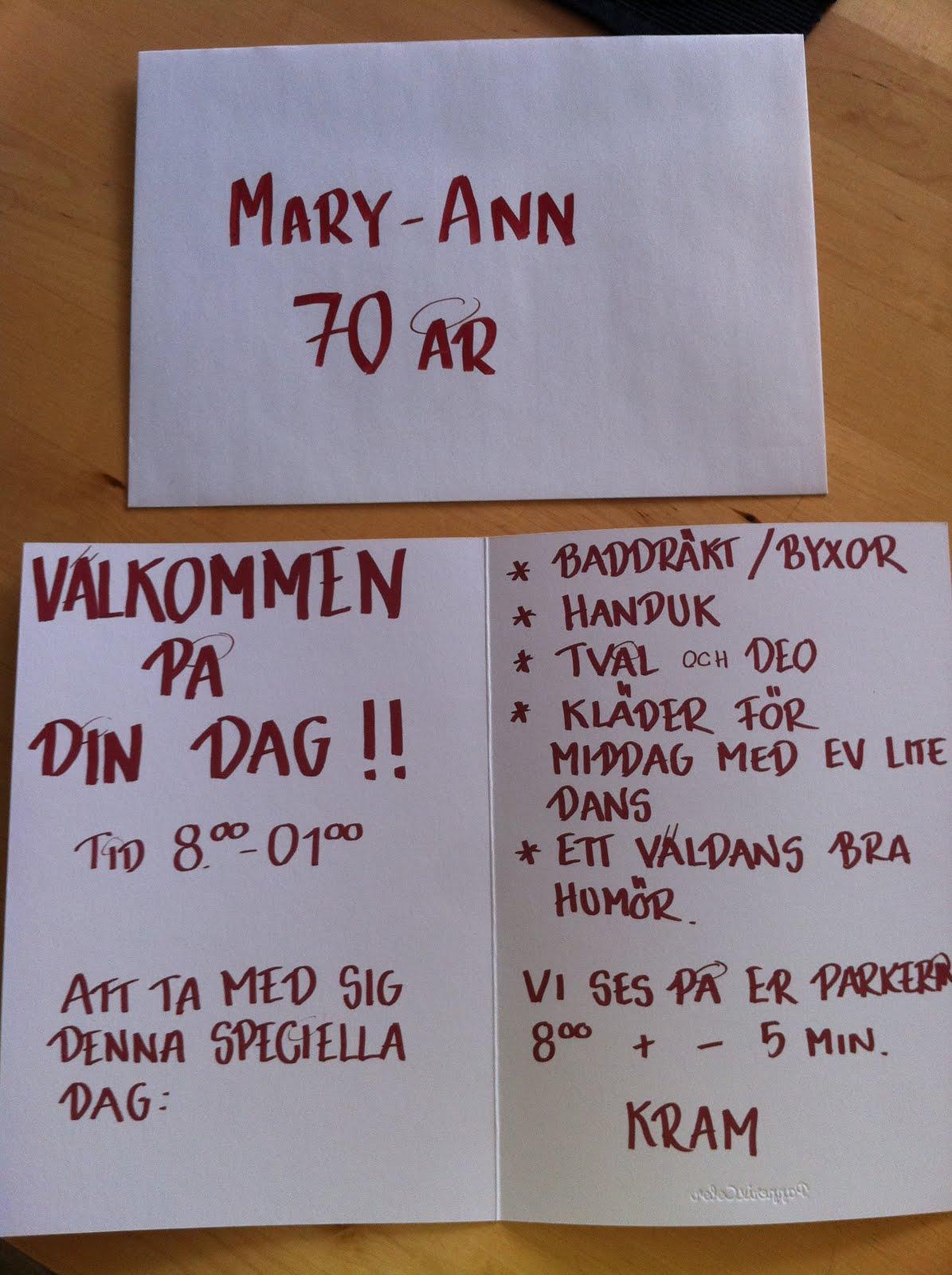 70 års present mamma Sabinas Sisyfosiska Sinnevärld: Fira svärmors 70 års dag nästan 1  70 års present mamma