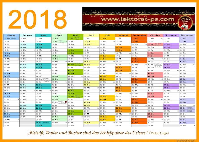 Kalenderblatt 2018