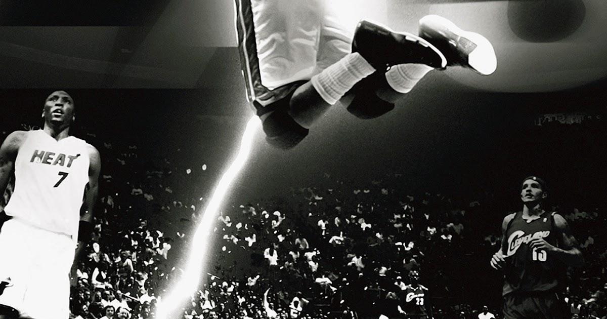 Hc84 Dwyane Wade Dunk Nba Flash Sports: Dwyane Wade Dunk NBA Flash Sports Black And White Android
