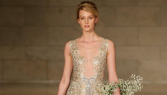 El color perfecto para un vestido de novia de impacto