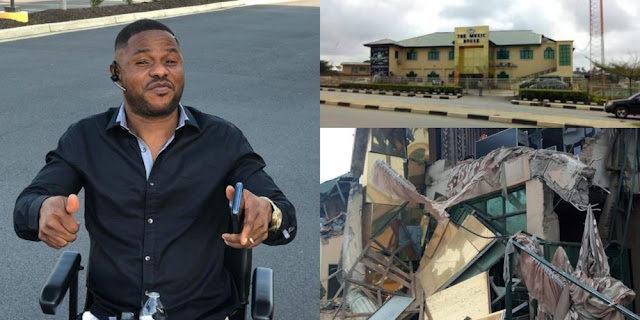Image result for demolition of the N800 million music house owned by gospel artiste, Yinka Ayefele