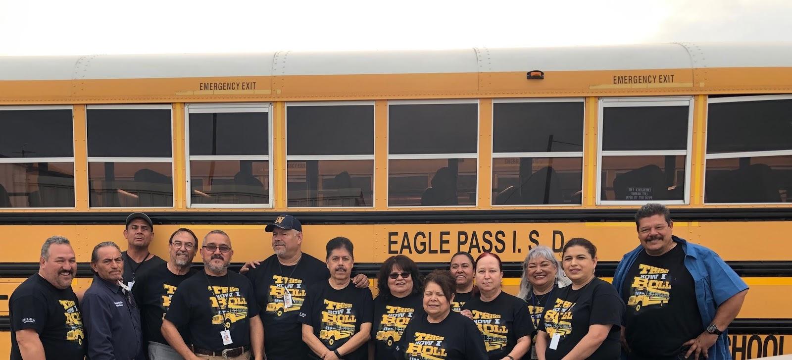 Eagle Pass Isd Ivision Episd Transportation Unveils New Shirt