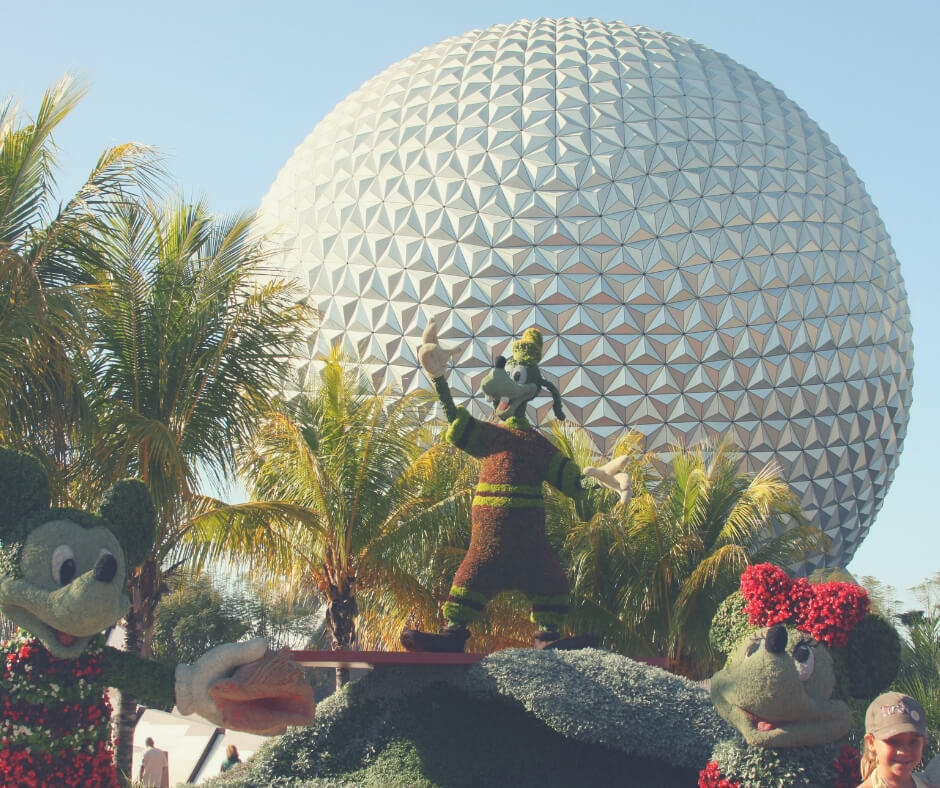 17 Must Dos For Your First Visit To Walt Disney World | Spaceship Earth, a huge golf-ball-looking thing in Epcot, one of the best rides.