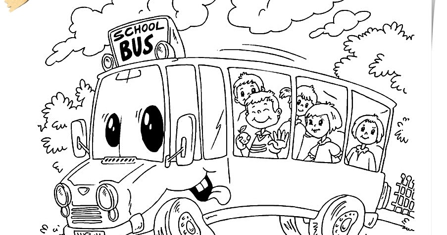 How to draw school bus school bus coloring pages for School bus coloring page