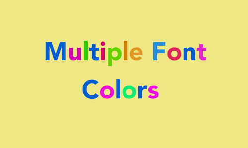 How To Set Multiple Font Colors in a Single label in Swift
