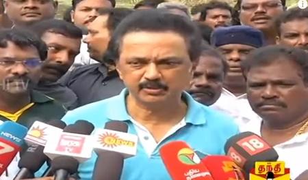 M.K.Stalin's press meet about Desilting Lakes, AIADMK, TN CM's Meet With PM Modi