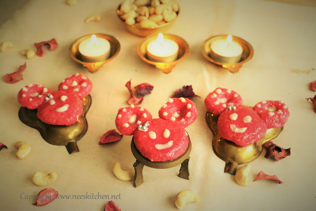 Minnie Mouse Rose Kaju Katli