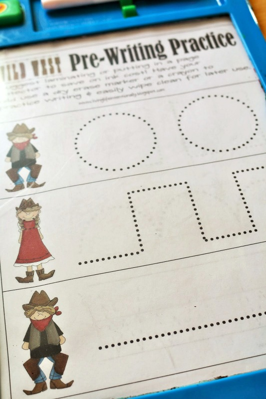 letter w pre-writing activity