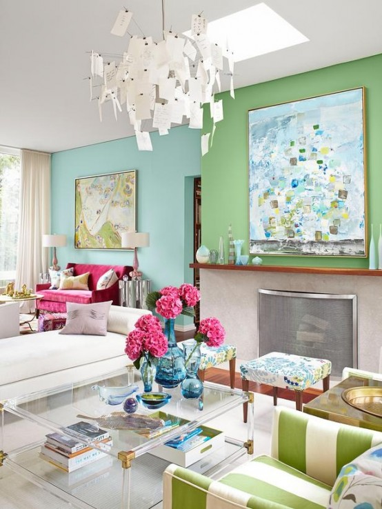Living Room Design Green: Modern Furniture: 2013 Stylish And Feminine Living Rooms