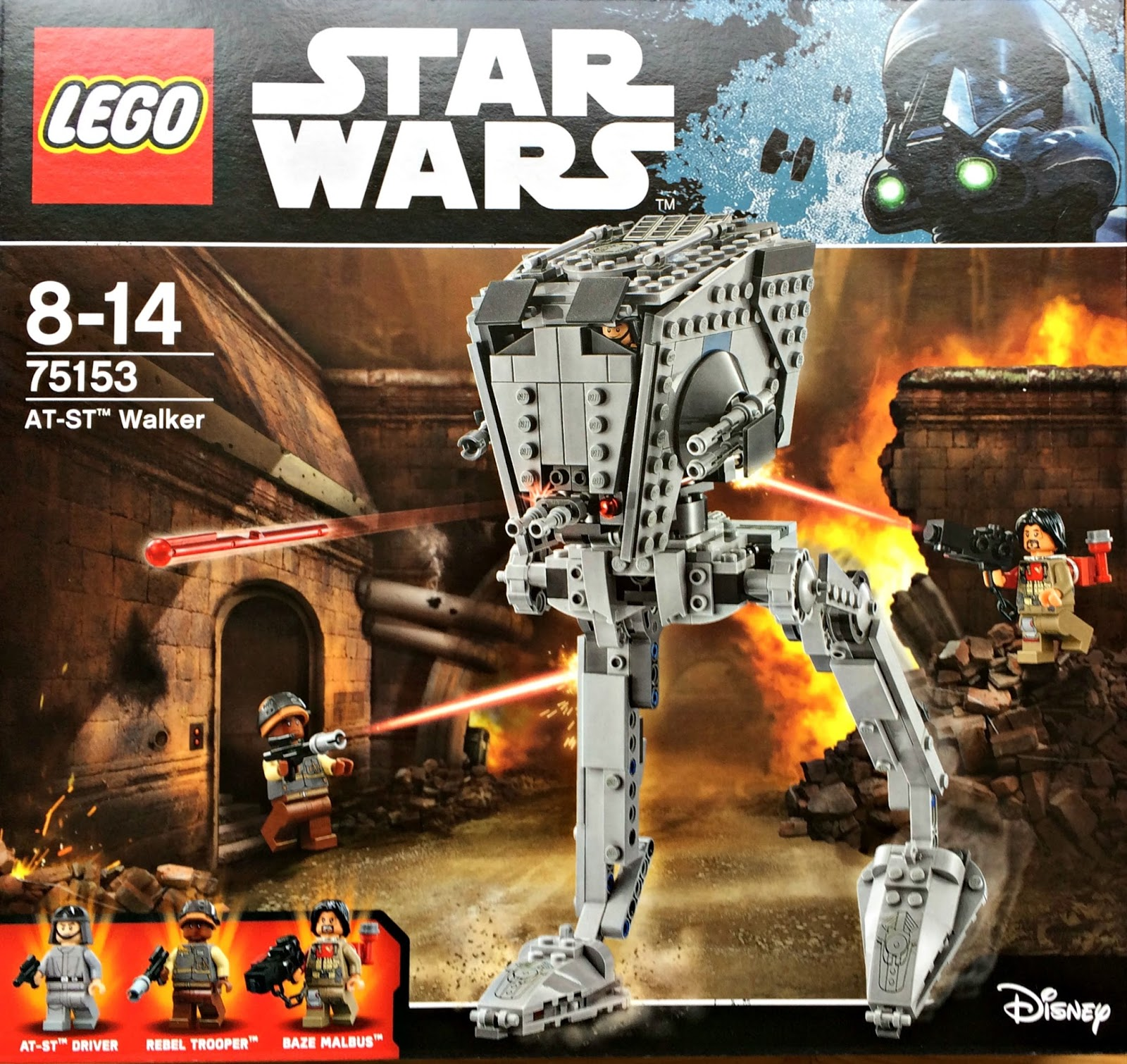 Lego 75153 Star Wars AT-ST Walker Building Set Box