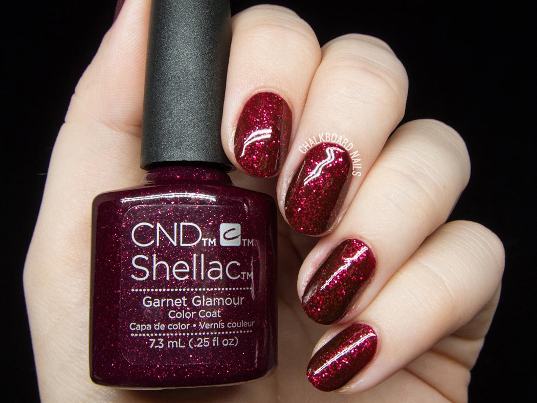 CND Shellac Garnet Glamour @chalkboardnails