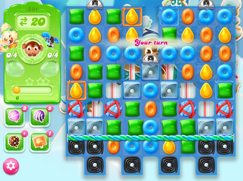 Candy Crush Jelly Saga level 591