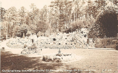 Postcard of Ave Maria Grotto Cullman, Alabama