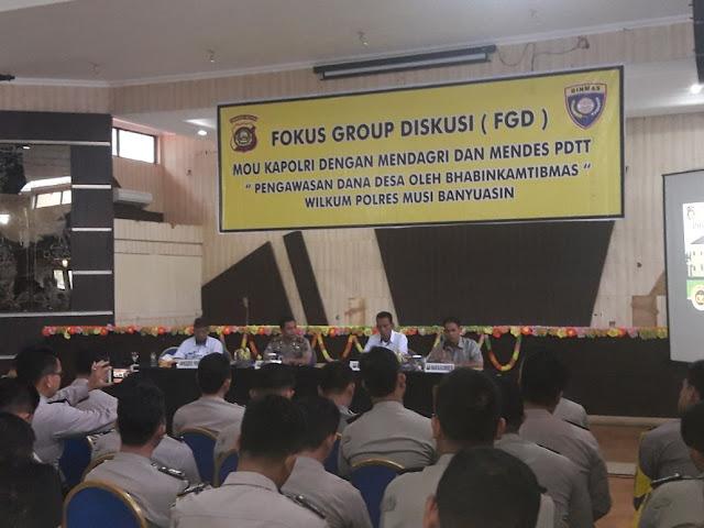 Tekan Penyimpangan DD, Sat Binmas Polres Muba Gelar FGD