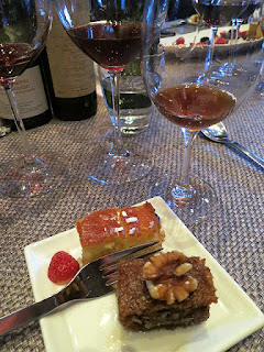 Greek Vinsanto with Baklava and Halva