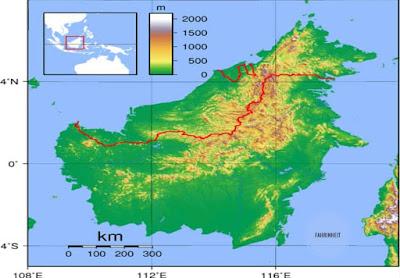 Daftar Nama Kabupaten / Kota yang Ada di Pulau Kalimantan Beserta Luas Wilayahnya
