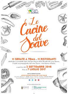 Le cucine del Soave  11 serate a tema  dal 2 settembre 2016 al 7 luglio 2017