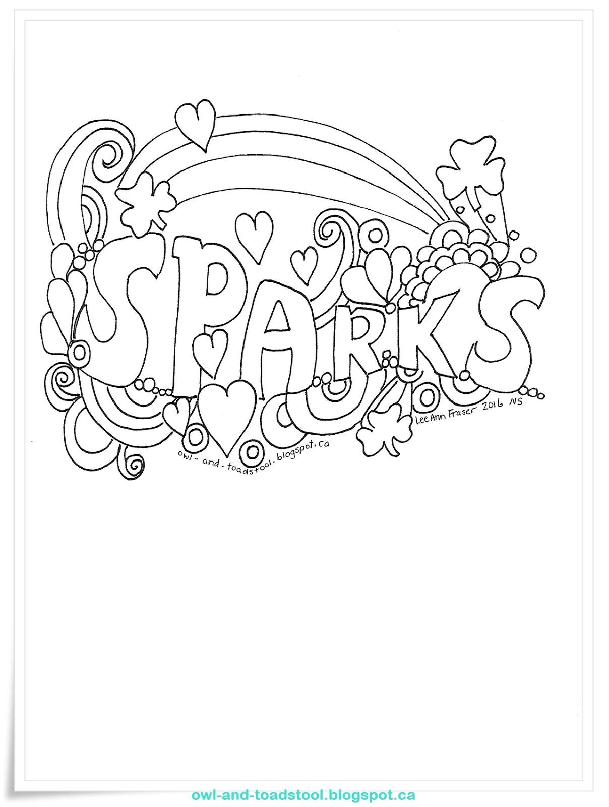Owl & Toadstool: Doodle- Sparks