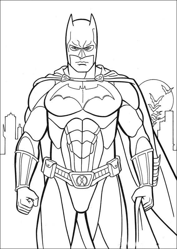 Batman Standing Batman Coloring Pages