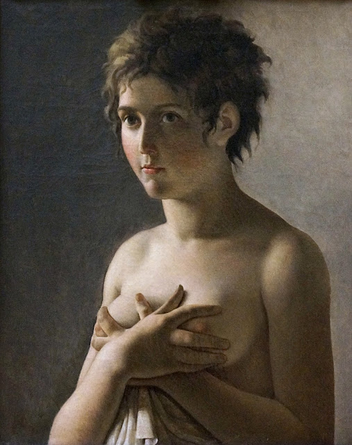 Pierre Narcisse Guerin: Ragazza a torso nudo