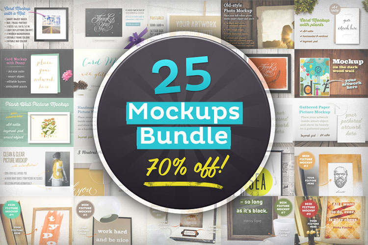 25 Editable Mockups Bundle