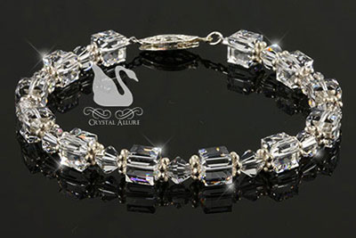 Swarovski Crystal Ice Cube Beaded Bracelet (B099)