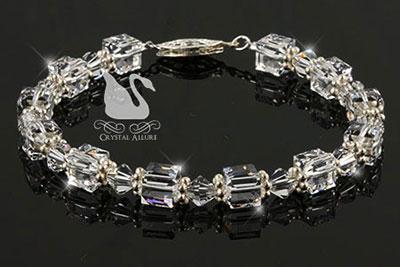 Swarovski Crystal Ice Cube Beaded Bracelet (B099)