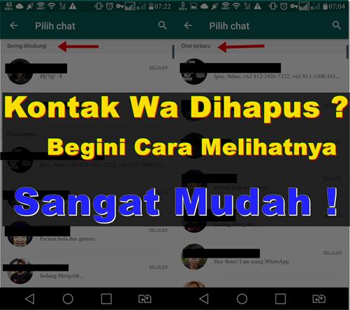 Cara melihat Chat/kontak yang dihapus pada whatsapp