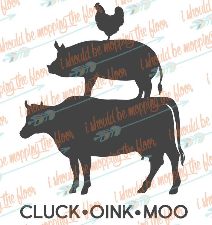 Cluck Oink Moo Cut Files
