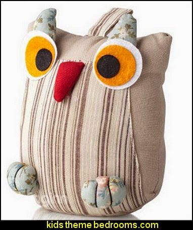 Fashion Cute Owl Pattern Cotton Travel Pillow