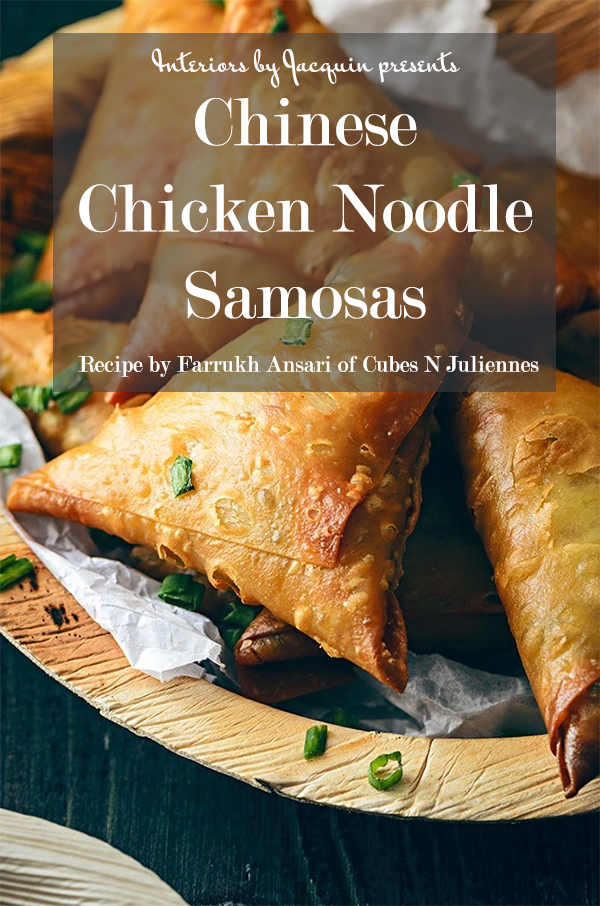 Chinese Chicken Noodle Samosas - A Global Recipe