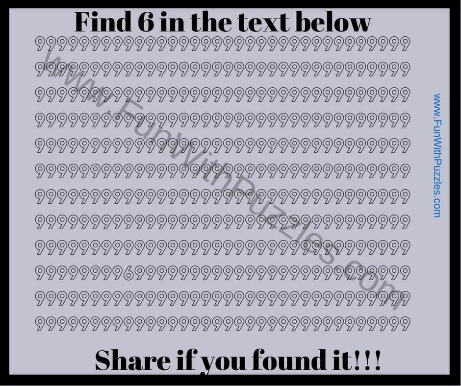 Picture Puzzle To Find Hidden Number