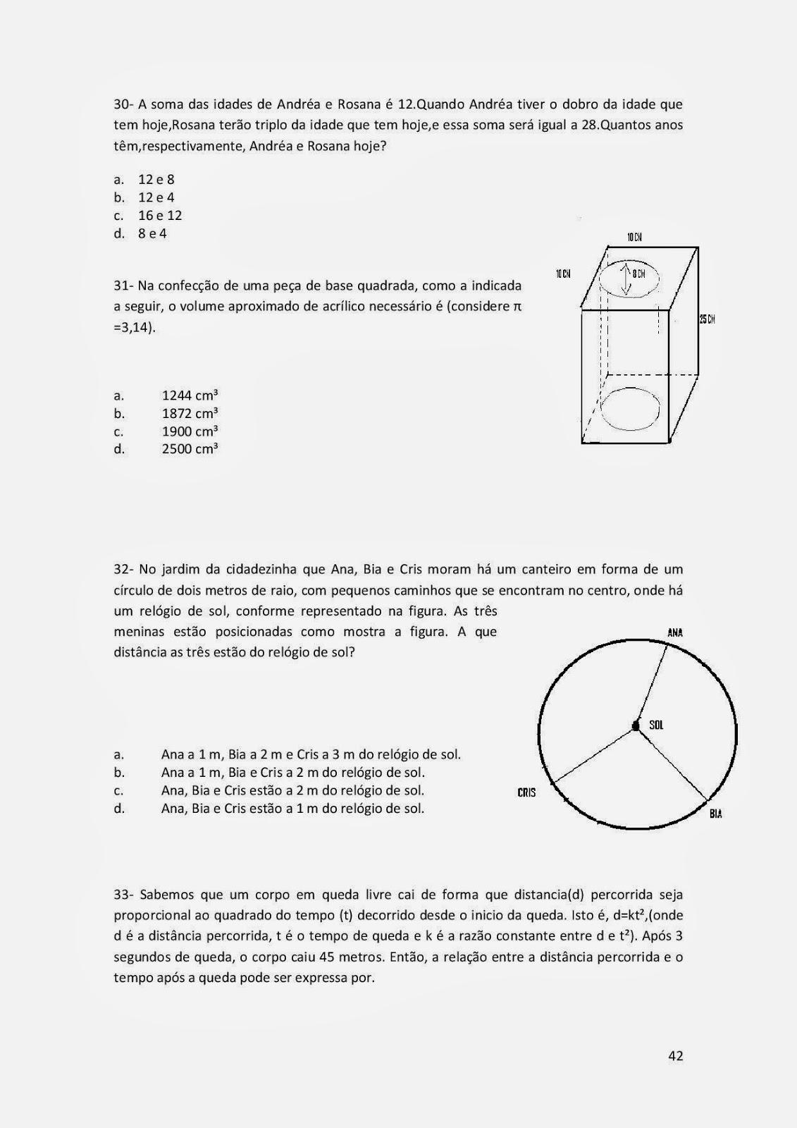 Atividades De Matematica Exercicios Ens Fundamental Ii 6 7 8 9