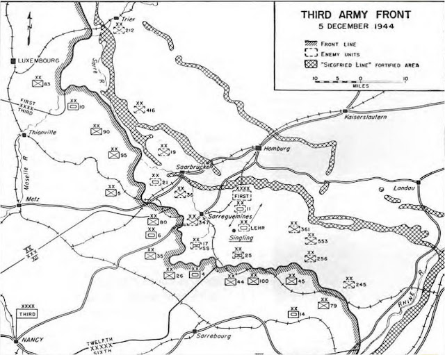 U.S. Third Army front