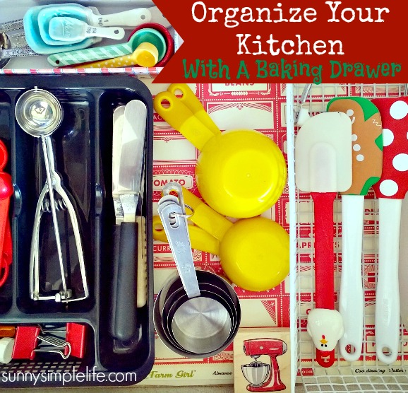 kitchen organization, baking supplies organization ideas