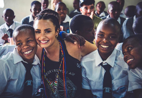 Celebrity musician Demi Lovato having a blast in Kenya!