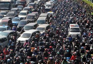 lalu lintas blog macet