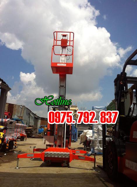 www.123nhanh.com: Thang nâng đơn 10m, thang nâng GTWY10-100, giá rẻ tại Hồ